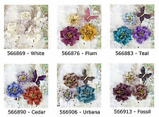 Prima * TROIKA * MULBERRY PAPER FLOWERS * Scrapbooking Cards * CLOSEOUT *