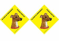 In Case of Emergency Please Save My Greyhound or Greyhounds (plural) Sign CHOOSE