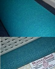 HARRIS TWEED FABRIC & LABELS turquoise blue 100% wool craft suitable 4 cushions