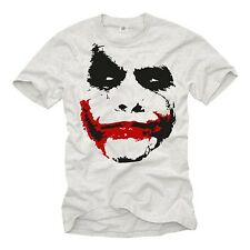 Cooles Geek T-Shirt Herren JOKER FACE Batman Robin Dark Knights Big Bang Theory