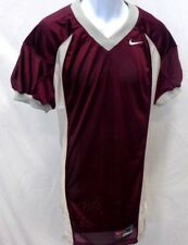 College Authentic Blank Football Jersey Burgundy Gray Trim Pro Cut