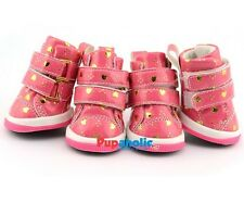 Pet Dog Boot Sneakers Tennis Shoes Hearts Pink Boots, Size XS-XL