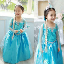 Disney Frozen Elsa Anna Dress Princess Party Dress Custom Cosplay New Nice