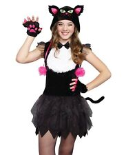 Tween Girls Black Cat Tutu Halloween Costume