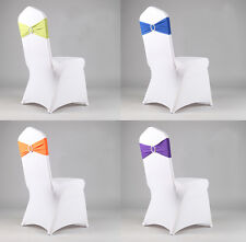 Fashion Elastic Stretch Chair Covers Circle Sashes Feast Party Home Decoration