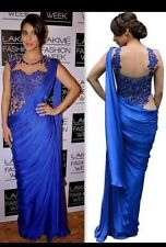 designer boutique Saree Indian BOLLYWOOD  Party Ethinic Wear wedding new sari
