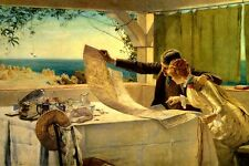 WHERE NEXT? ROMANTIC COUPLE STUDYING THE MAP TRAVEL BY EDWARD BREWTNALL REPRO