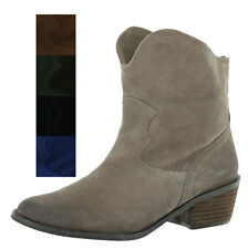 Naughty Monkey Havoc Women's Suede Western Ankle Boots Booties