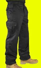 Mens Work Trousers Cargo Combat Workwear Knee Pad Pockets Navy Black Fast Post