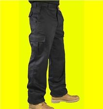 """Men Cargo Combat Work Trousers Pants With Knee Pad Pockets Black 30"""" - 40"""" ****"""