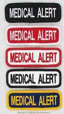 1 MEDICAL ALERT TITLE PATCH for service dog vest 1X3 Danny & LuAnns Embroidery