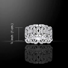 Viking BORRE Weave Ring .925 Silver intricate Scandinavian NORSE knotwork