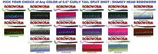 Roboworm Curly Tail 5.5 Inch Drop Shot Handpoured Worms CL 8 Pack Any 18 Colors