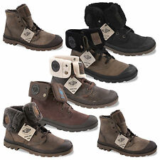 Palladium Boots Winter Shoes Real Leather Padded Pallabrouse Baggy