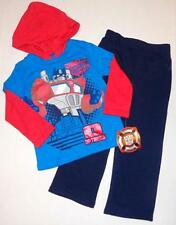 OPTIMUS PRIME Boys 24 Mo 2T 3T 4T 5T Hoodie OUTFIT Set Shirt Pants TRANSFORMERS