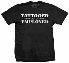 Men's Tattooed and Employed by Steadfast Pro-Ink Tattoo Artwork Black T-Shirt