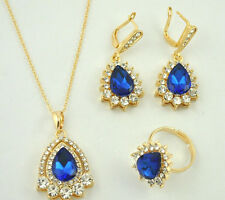 Antique fashion drop multi-rhinestone metal Earrings Necklace ring Jewelry Sets