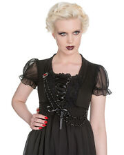 Spin Doctor Zylphia Top Black Gothic Steampunk Vintage Victorian Lace Corset