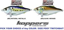 Koppers Live Target Menhaden Pogy Bunker Minnow Saltwater Twitchbait Lures - Any