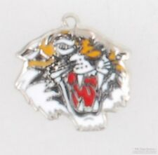 Silver-toned fancy tiger fob, with keychain options