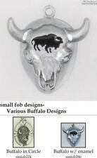 Buffalo (Bison) fobs, various designs & keychain options