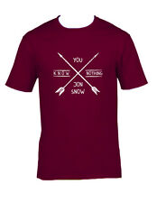 You Know Nothing Jon Snow Game Of Thrones Shirt Various Sizes & Colors