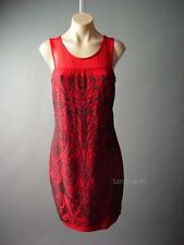 Red Black Ornate Bead Design Cocktail Evening Party 103 mv Dress 1XL 2XL 3XL