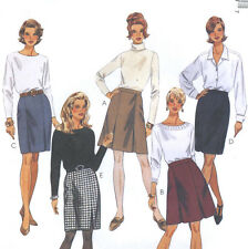 Misses A Line Straight Skirt Sewing Pattern Waistband Pleat Variations 7904
