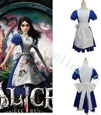 Alice Madness Returns Alice unfrom cosplay party costume dress Good Customize