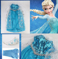 NWT Disney Frozen Anna and Elsa Costume Dress Gown Size 3/4/5/6/7/8/9/10/11/12Y