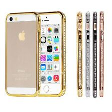 """Crystal Rhinestone Diamond Bling Metal Case Cover Bumper For iPhone 6 6S 4.7"""""""