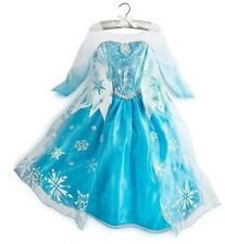 Girls Snow Disney Frozen Princess Elsa Dress Halloween Cosplay Crown Wand Gloves