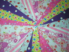Celebration Fabric Bunting Wedding Garden Party Multi Colour Choice 10ft 20ft
