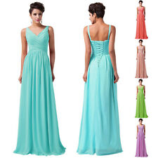 CHEAP~ Long V NECK Bridesmaid Gown Ball Cocktail Evening Prom XMAS Party Dresses