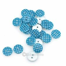 100/500/1000Pcs Mixed White Sewing Round Buttons 2 Holes Scrapbook Bulk