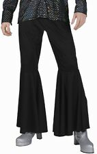 Mens Black Disco Bell Bottom Halloween Costume Pants