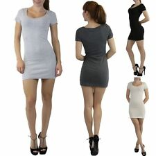 Women's Pack of 3 Sexy Comfy Scoop Neck Cap Sleeve Cotton Mini Dress