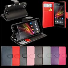 For All Sony Xperia Phones Flip Leather Wallet Case Cover Stand Pouch