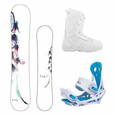New 2015 Camp7 Dreamcatcher Womens Snowboard Package +Mystic Bindings +Lux Boots