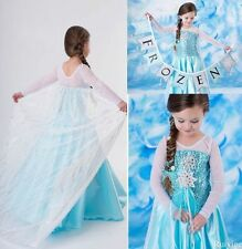 Kids Girls Dresses Disney Elsa Frozen dress costume Princess Anna party dress NB