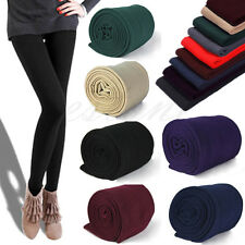 Womens Warm Winter Skinny Slim Leggings Stretch Pants Thick Footless