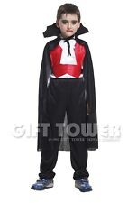 NEW Dracula Vampire Child Kids Halloween Costume Outfit Cosplay Boy Age 4-12