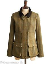 Joules Field Coat Womens Semi-Fitted Tweed, Fieldcoat (R) Mr Toad Green
