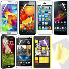 Twin Pack - Clear LCD Premium Screen Protector Packs for Latest 2014 Mobiles