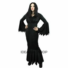 VAMPIRESS DRESS HALLOWEEN FANCY DRESS LADIES WOMEN WITCH COSTUME BLACK PLUS SIZE
