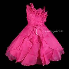 NEW Flower Girl Wedding Pageant Party Bridesmaid Dress Wears Fuchsia SZ 4-9 Q605