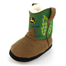 John Deere Toddler Baby Green Cowboy Boot Slippers JFBC002G1T S/M 6-9 L/XL 9-12