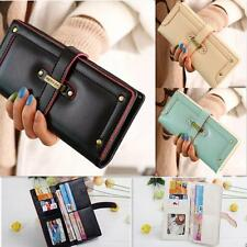 Women Fashion Leather Wallet Button Clutch Purse Lady Long Handbag Bag Wristlet