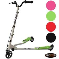 iScoot 3 Wheel Push Scooter Winged Speeder Tri Wheel Drifter Kids Boys Girls