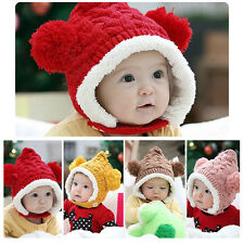 Lovely Newborn Infant Baby Knit Crochet Hat Autumn Winter Warm Costume Caps